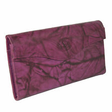 New Buxton Women's Leather Long Bifold Organizer Wallet with Floral Emboss