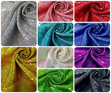 """3mm Micro Mini Holographic Sequins on Stretch Polyester Spandex Fabric -52"""" Wide"""