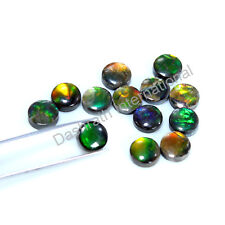 Ammolite Gemstone Rare Calibrated 6 MM To 10 MM Cabochon Round Loose Gemstone