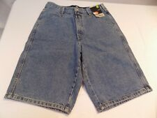 New Marithe Francois Girbaud Mens Denim Shorts Blue Jean Loose Fit Long Baggy