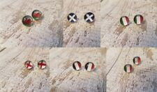 six nations rugby flag earrings mix n match scotland wales ireland france italy