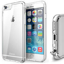 Zeox® [Scratch Resistant] Clear Cushion® Case Hard Cover for Apple iPhone 6S/6