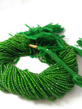 """Natural Chrome Diopside Gemstone Beads Rondelle Faceted Cut 13"""" Strand Russia"""