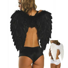 Black Feather Angel Wings Photo Props Costume Accessory Halloween Fancy Dress