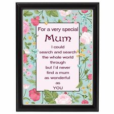 Mum Birthday Gift for Grandma Nan Auntie Friend Sign Printed Xmas Gift For Her
