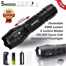 20000LM XML T6 5-Mode Waterproof Zoomable LED Flashlight 18650BTY Torch Lamp New