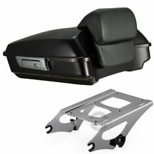Blackened Cayenne Razor Tour Pack Pak Trunk For 14-18  Harley Davidson Touring