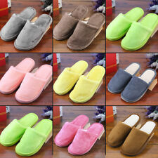 Women Men Home Anti-slip Shoes Soft Warm Cotton House Indoor Slippers 38-41 VY