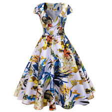 Zaful Women Vintage Dress Floral Sweetheart Neck Sleeveless Design Swing Dress