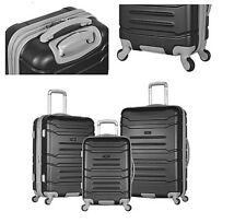 Luxury Olympia USA Monaco Expandable Spinner Set with Hidden Carry-On Laptop