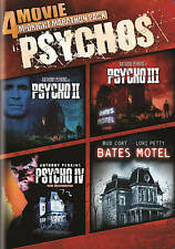 4 Psycho movie DVD set: II (2), III (3), IV (4), Bates Motel (Anthony Hopkins)