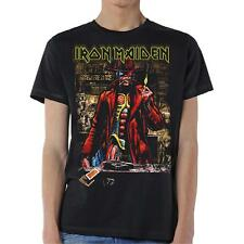 OFFICIAL LICENSED - IRON MAIDEN - STRANGER IN A STRANGE LAND SEPIA T SHIRT METAL