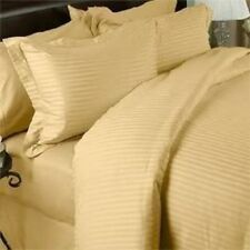 1000 THREAD COUNT GOLD STRIPE EGYPTIAN COTTON UK BED SHEET SET/DUVET/FITTED