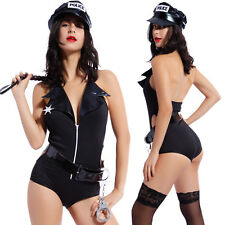Adults Sexy Police Officer Costume Ladies Fancy Dress Cosplay Cop Outfit