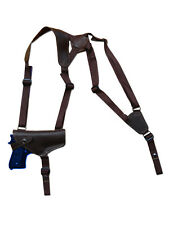 NEW Barsony Horizontal Brown Leather Shoulder Holster Ruger Star Full Size 40 45