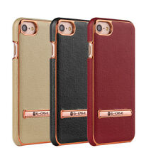 G-Case Genuine Leather Kickstand Plating Hard Back Case Cover For IPhones