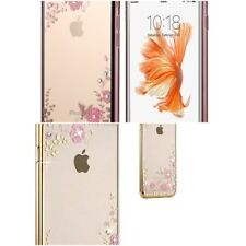 iPhone 5 5s SE Luxury Fashion Fit Bling Flowers Diamonds Case Battery Cover
