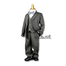 NEW Boys Formal Wear Sold in Pieces (Jacket or Vest or Pants) sz000–16 CHARCOAL
