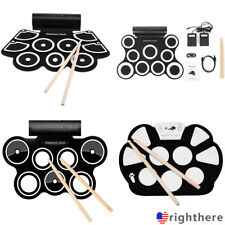 Roll up Portable 9 Pad USB 9 Pad Musical Instrument Electronic Drum Kit Kids L#