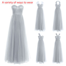 Elegant Women Bridesmaid Formal Wedding Long Dresses Evening Party Prom Gowns