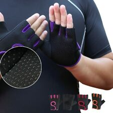 Gym Antiskid Motorcycle Fitness Driving Breathable Exercise Fingerless Gloves