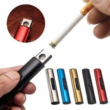USB Smoke Cigar Lighters Cylindrical Windproof Mini Electric Smoking Lighter L#