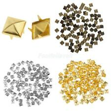 100pcs Colorful Personality Pyramid Rivet Studs for Clothing Bag Shoes Cap