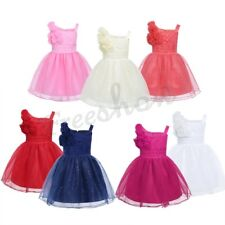 Infant Baby Girls Sleeveless Tutu Dress Glitter Tulle Princess Pageant Wedding