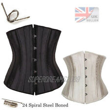 Premium lace up waist training Spiral Steel boned underbust Corset top Waspie SD