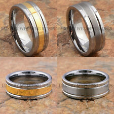 Tungsten Ring Wedding Band Men's Jewelry Silver Gold Engagement Size 6-13 LWR