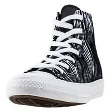 Converse Chuck Taylor All Star Hi Womens White Textile Casual Trainers Lace-up