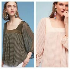 Anthropologie Allyson Textured Top Meadow Rue NWT 2XS XS S M PXS PS PM $78