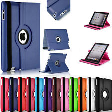 360° Rotating Leather Case Smart Cover / Screen Protector For iPad Mini 1 2 3