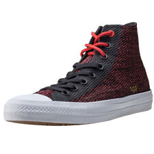 Converse Ct All Star Ii Hi Lunarlon Mens Trainers Dark Red New Shoes