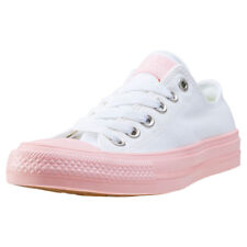 Converse Chuck Taylor All Star Ii Ox Womens Trainers White Pink New Shoes