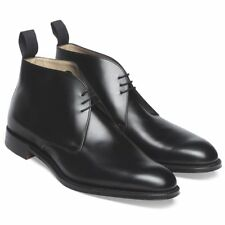 Handmade Bespoke Chukka Boots Men Black Leather Boots Half ankle Boot for Mens