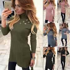 Sexy New High-Necked Womens Long Sleeve Bodycon Fashion Slim Long T-shirt