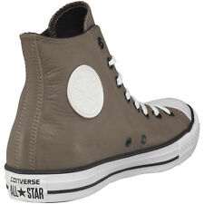 Mens Converse All Star Hi Leather Trainers Brown White High Tops Shoes Szs 9 9.5