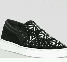 NEW! MICHAEL Michael Kors Flat Slip On Embellished Sneakers - Nadine Size 8