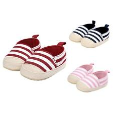Baby Infant Baby Cute Stripe Shoes Girls Soft Sole Sneaker Crib Shoes 0-18months
