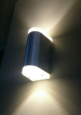 4x EXTERIOR UP DOWN ANODISED ALUMINIUM WALL PILLAR LIGHT 10 WATT COOL/ WARM LED