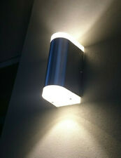 6x EXTERIOR UP DOWN ANODISED ALUMINIUM WALL PILLAR LIGHT 10 WATT COOL/ WARM LED