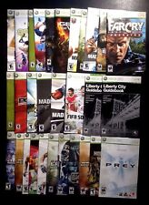 Xbox 360 Instruction MANUALS ONLY - choose booklet from list - no game