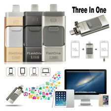 iFlash Drive USB Memory Stick 64GB U Disk 3 in 1 for Android/IOS iPhone 678S PC