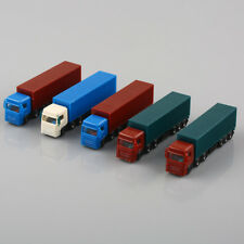 5PCS Model Container Truck Freight Car Scale Model Making Layout Toy