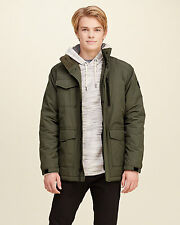 Abercrombie & Fitch - Hollister Jacket Men's Coated Puffer Winter L Olive NWT