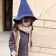 Baby Kids Boys Girls Knit Hat Steeple Hairball Witch Photograph Modeling Cap