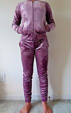JUICY COUTURE AUTHENTIC Women's LIMITED Lilac Snow Velour Track Suit LARGE NWT