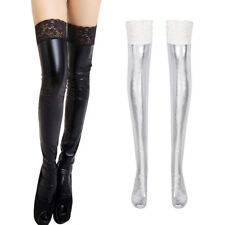 Women Lingerie Leggings Stockings Wet Look Clubwear Nightwear Thigh-High Socks