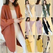 Women Oversize Batwing Sleeve Knitted Sweater Loose Cardigan Outwear Coat lot EW